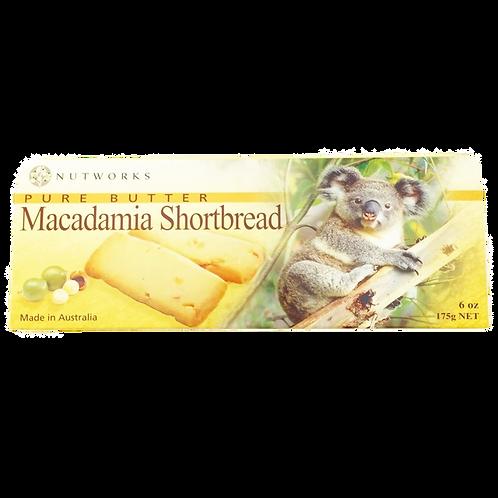 Pure Butter Macadamia Shortbread 175g / 12 pieces