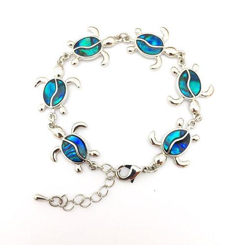 Marine Opal - Paua-Shell / Turtle bracelet