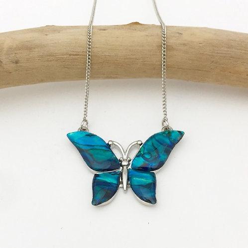 Marine Opal - Paua-Shell / Butterfly pendant