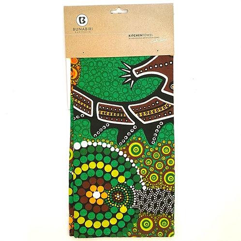 Tea Towel Colin Jones | Crocodile Dreaming