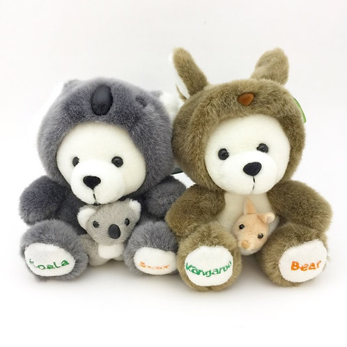 Bear in Koala or Kangaroo soft toy