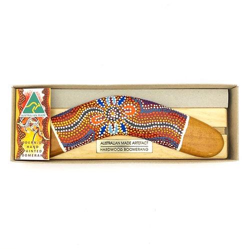 Australian Made / Modern Dot Hand Painted boomerang & stand set