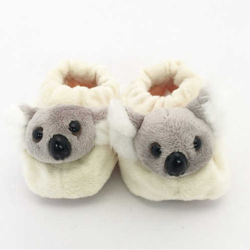 Koala Soft Baby Booties / 6-12 months / white or pink