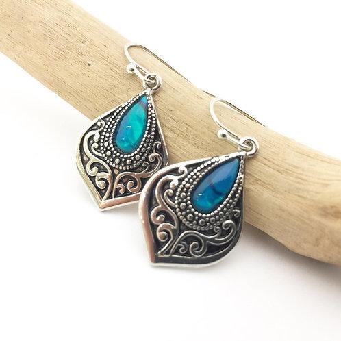 Marine Opal - Paua Shell / earrings