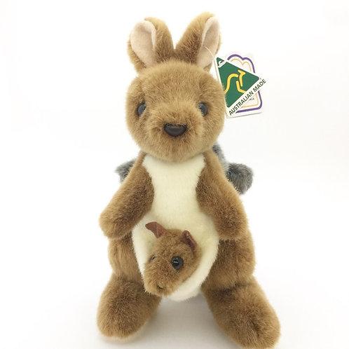 Australian Made / Kangaroo with baby koala on back soft toy