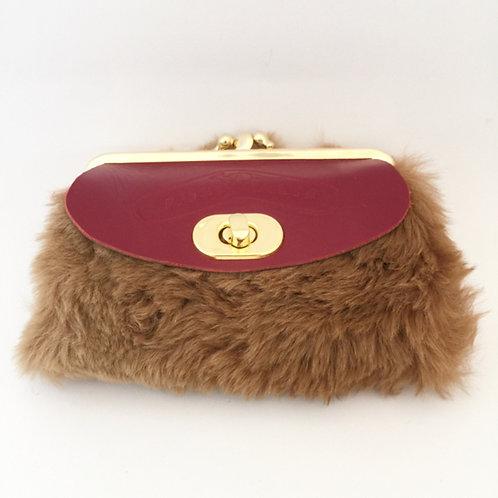 Kangaroo Fur and Leather Wallet