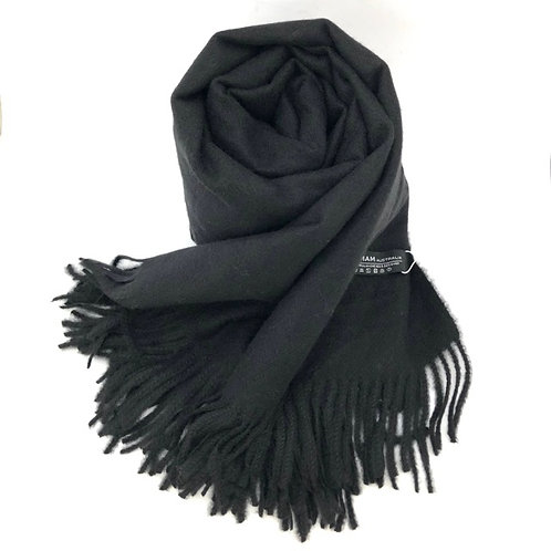 80% Australian Merino Wool 20% Cashmere Scarf / 65cm x 200cm