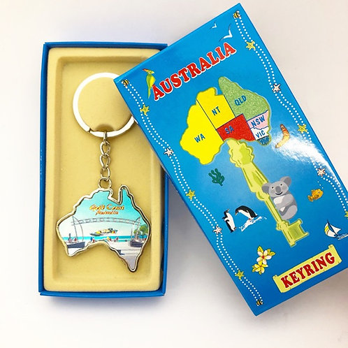 Gold Coast keyring with box