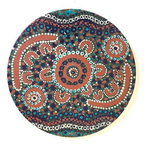 Ceramic Trivet / Finke River / 20cm