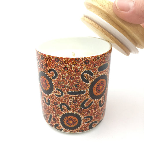 Dreamtime Stories Canister with 100% soy wax candle