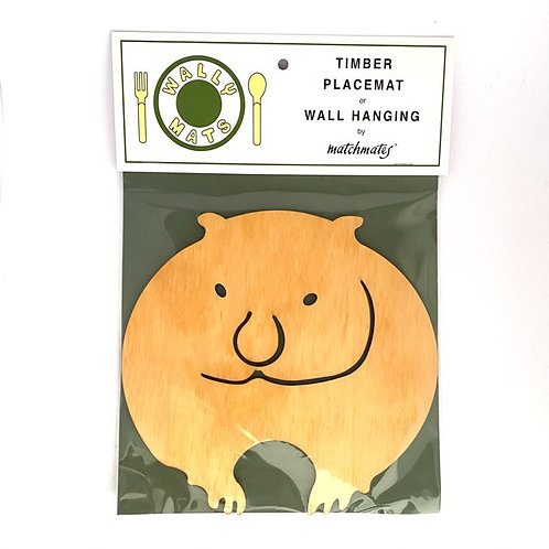 Wombat Timber Table Place Mat or Wall Hanging
