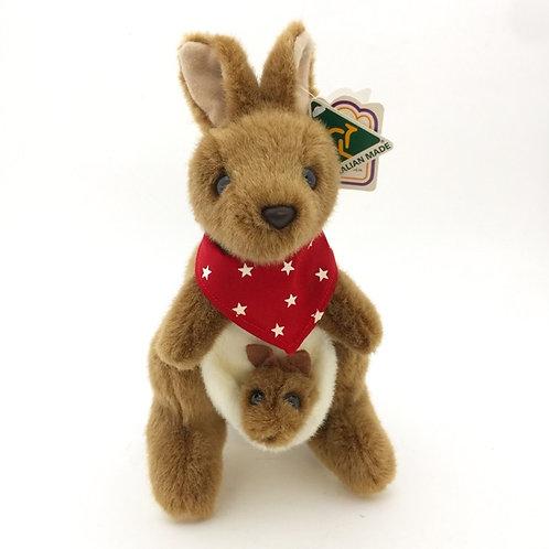 Australian Made / Kangaroo and Joey with Red Bandana / size 9 or 11