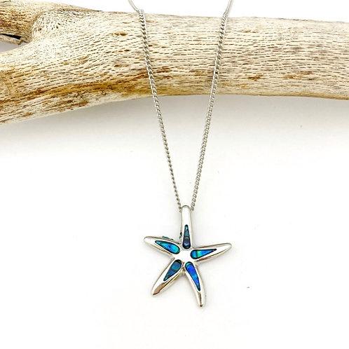 Marine Opal - Paua-Shell / Starfish pendant