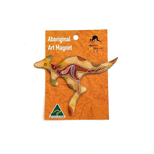 Aboriginal Art Kangaroo Magnet | Australian Made