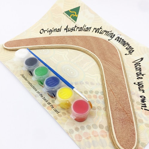 Australian Made  / Decorate your own Returning Boomerang