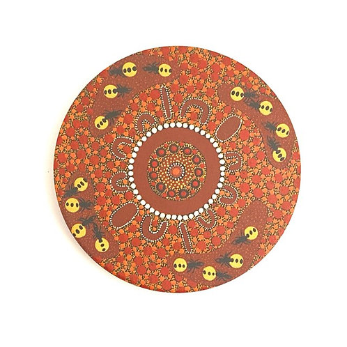 Aboriginal Ceramic Coaster | Honey Ants