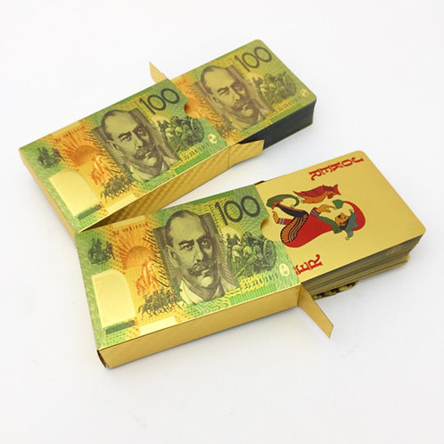 Australian $100 note design playing cards