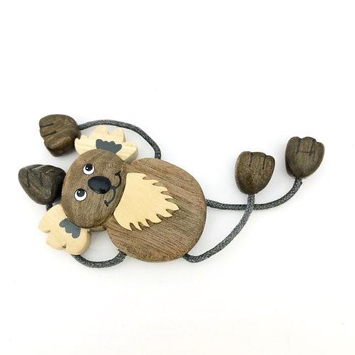 Wooden koala  dangle arms & legs fridge magnet