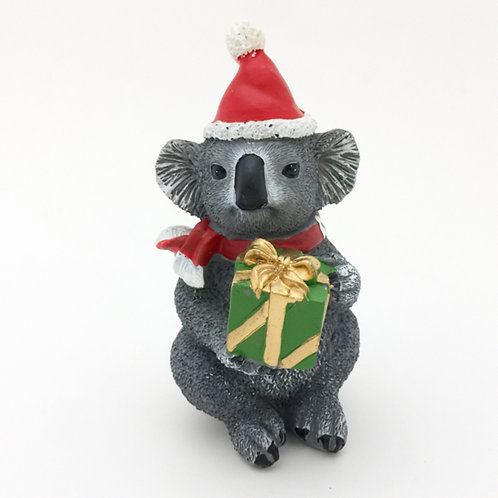 Christmas Figure / Koala With Present