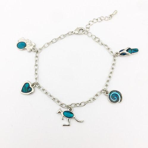 Marine Opal - Paua-Shell / Australia Bracelet