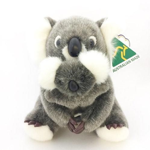Australian Made / Mama and Baby Koala  25cm