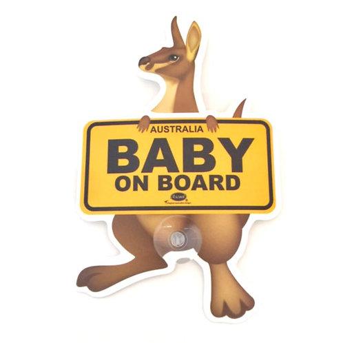Baby on board car window sign / Kangaroo
