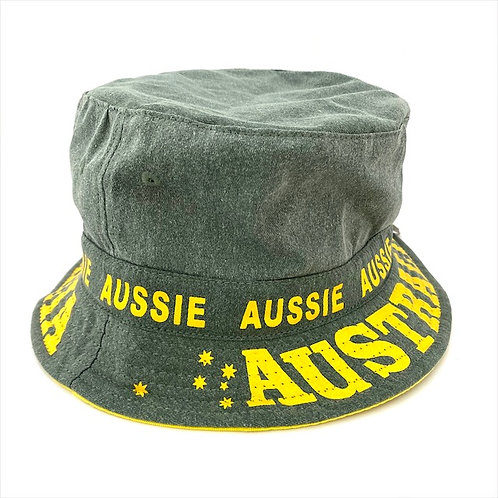 Aussie Hat / Green and Gold