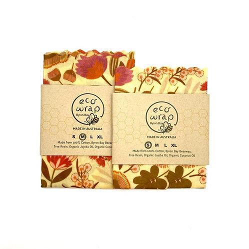 Beeswax food wrap | Australian flowers