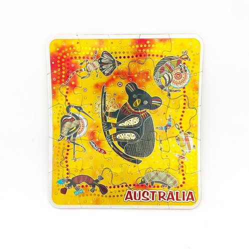 Magnetic Jigsaw Puzzle  /Australian Animals