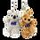 Thumbnail: Set of Koala & Kangaroo Zipper backpack key rings