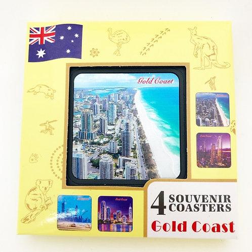 Gold Coast Coasters / set of 4