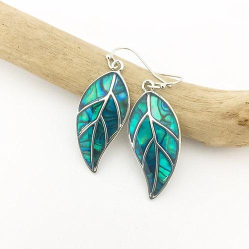 Marine Opal - Paua-Shell / Leaf Earrings HFMOE86