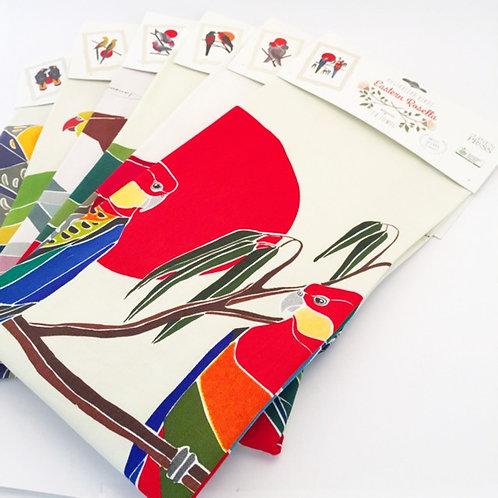 Australian Birds Organic Tea Towel