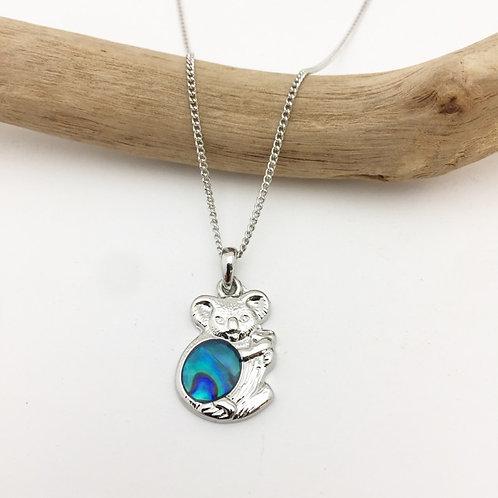 Marine Opal - Paua-Shell / koala pendant