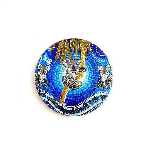 Aboriginal Artist Chern'ee Sutton   Ceramic Coaster   Koala