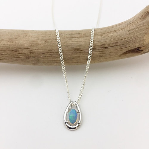 Australian gifts store gold coast mak3 gifts gold coast white white opal pendant set in 18k white gold with 925 silver chain p7743 aloadofball Images