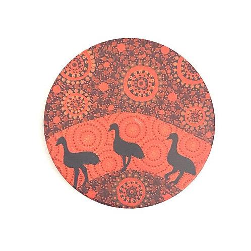 Aboriginal Ceramic Coaster | Emu