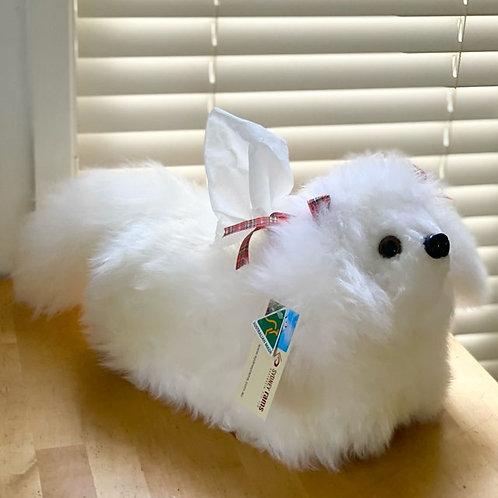 Sheepskin Tissue Box Cover / Dog / Australian made