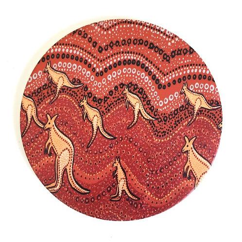 Ceramic Trivet / kangaroo Sunset / 20cm