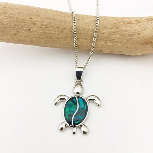 Marine Opal - Pua-Shell pendant / Turtle