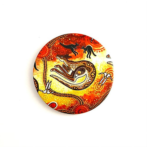 Aboriginal Artist Chern'ee Sutton | Ceramic Coaster | Kangaroo