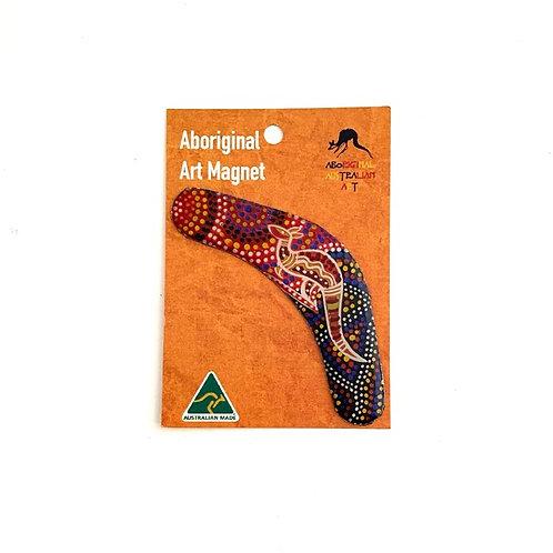 Aboriginal Art Boomerang Magnet | Australian Made