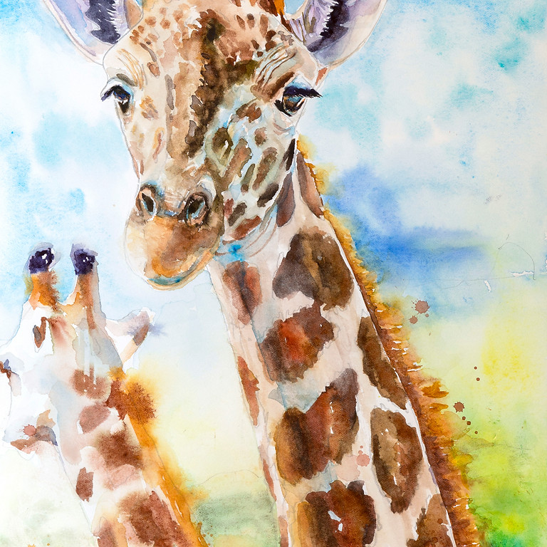 Joyful Artist Quest: Giraffe Watercolor Workshop - Three Days