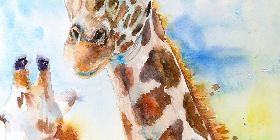 Joyful Artist Quest: Giraffe Watercolor Workshop - Three Days