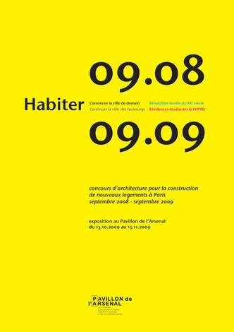 HABITER – CATALOGUE D'EXPOSITION DU L'ARSENAL – OCTOBRE-NOVEMBRE 2009