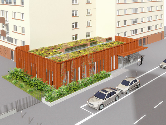 Réhabilitation d'un bâtiment commercial à Villeneuve-la-Garenne (92)