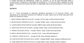 SEGUNDA CONVOCAÇÃO DECRETO Nº1.138
