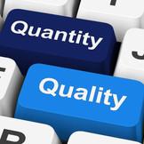 Material Master Data: Quantity vs. Quality