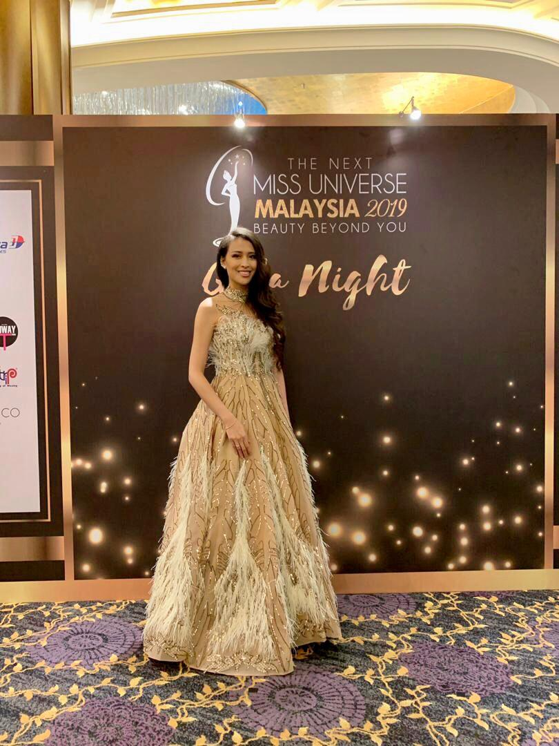 Renee won The Best Dressed at Miss Universe Malaysia 2019