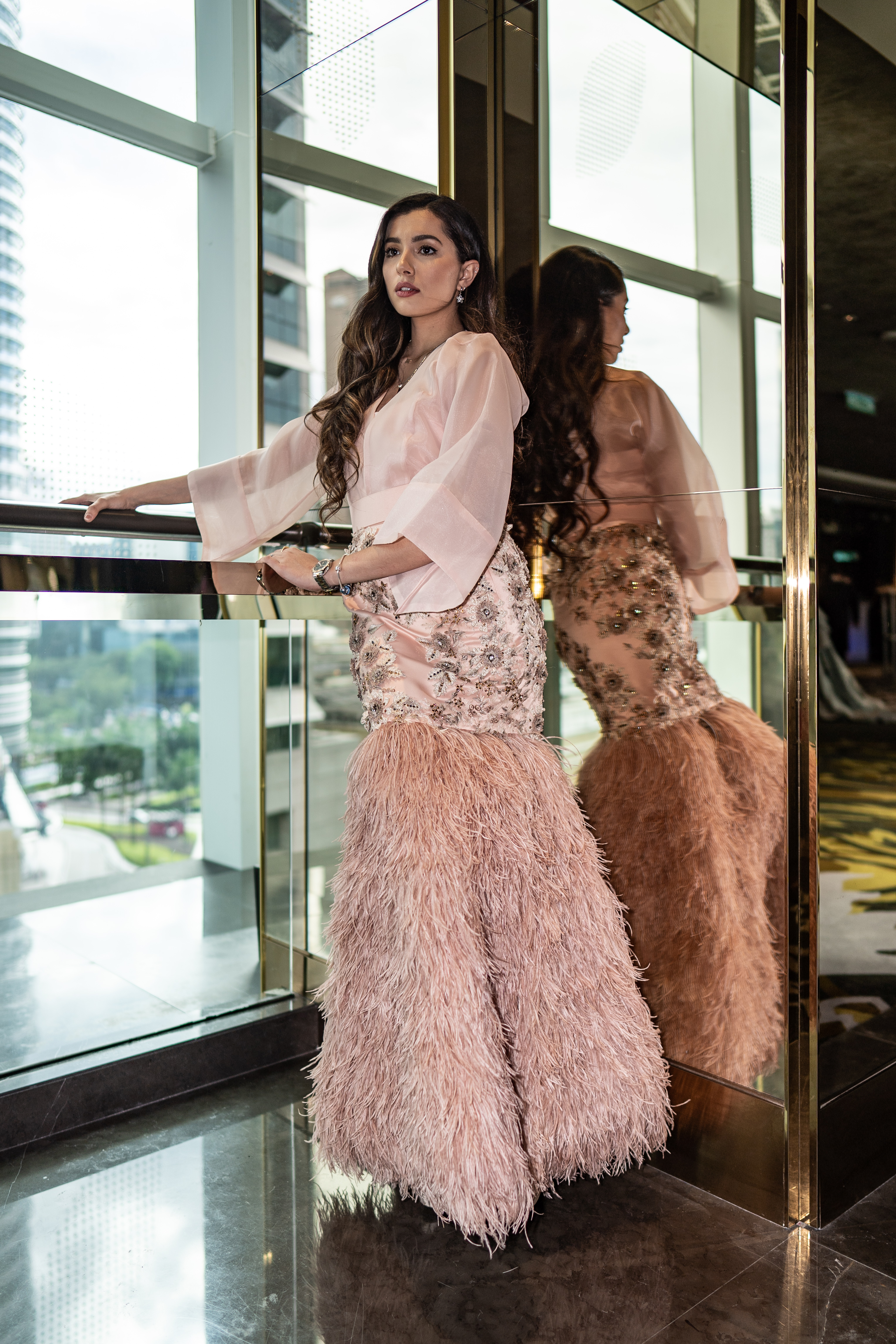 Amelia Thripura Henderson in CHARIS CHING gown